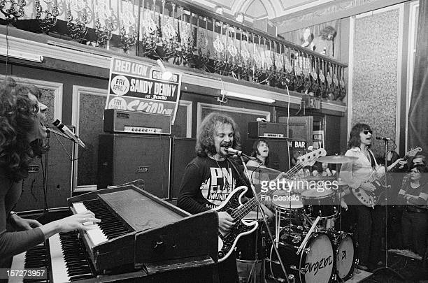 LONDON 1st JANUARY English rock band Argent perform live on stage at the Red Lion in Walthamstow London in 1972 Left to right Rod Argent bassist Jim...