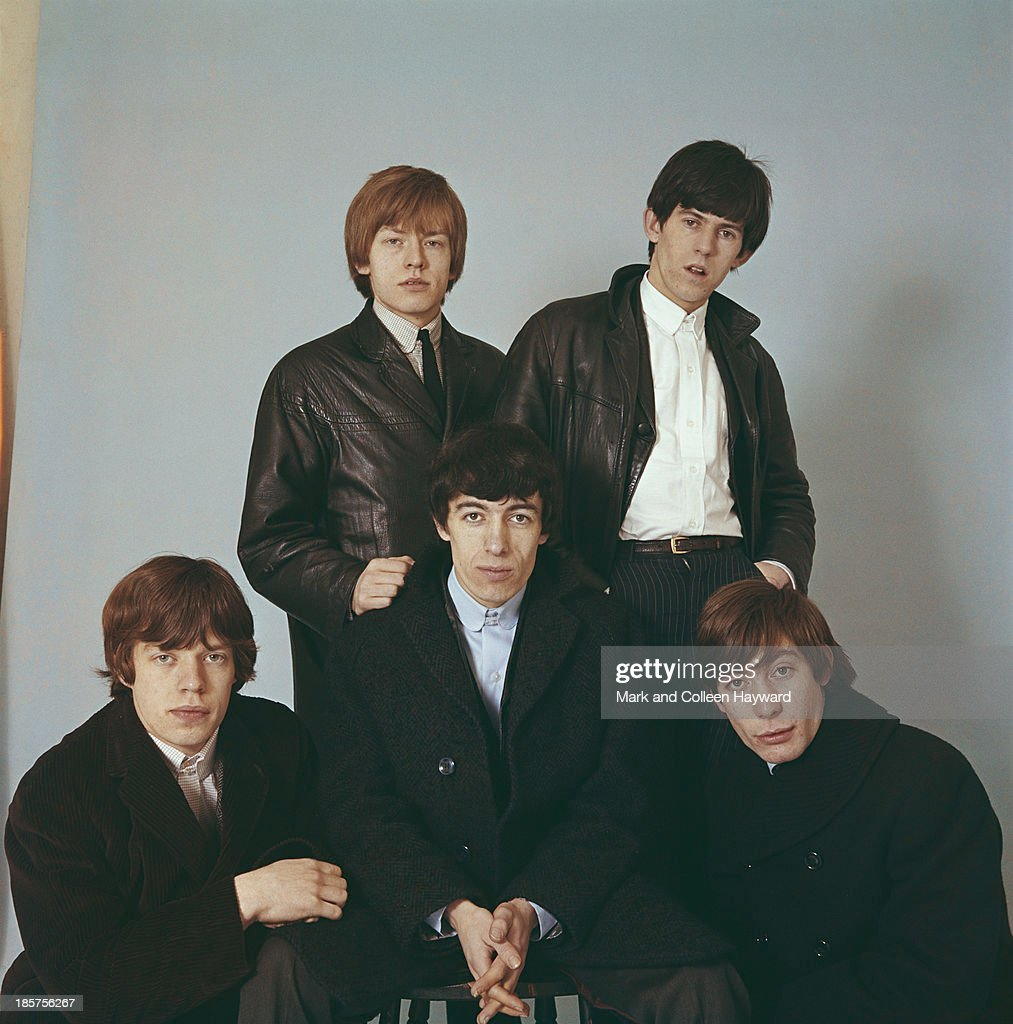 English rock group Rolling Stones posed in 1964 Left to right Mick Jagger Brian Jones Bill Wyman Keith Richards and Charlie Watts