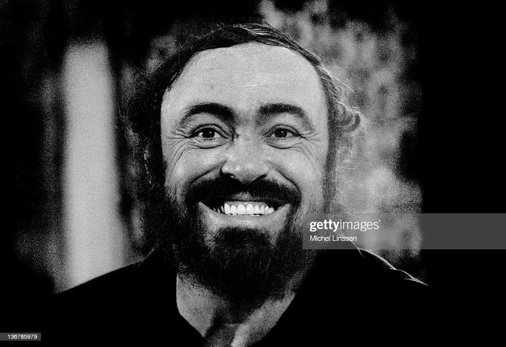 Italian operatic tenor <a gi-track='captionPersonalityLinkClicked' href=/galleries/search?phrase=Luciano+Pavarotti&family=editorial&specificpeople=204196 ng-click='$event.stopPropagation()'>Luciano Pavarotti</a> (1935-2007) posed in The Netherlands in 1990.