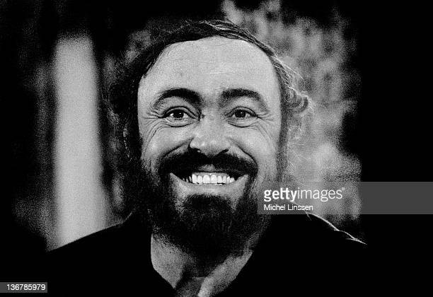 Italian operatic tenor Luciano Pavarotti posed in The Netherlands in 1990