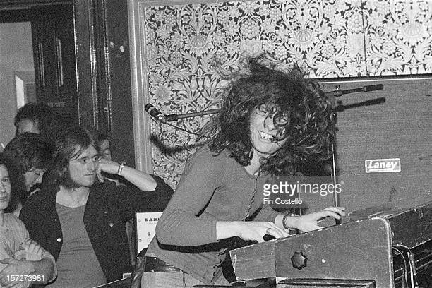 LONDON 1st JANUARY Keyboard player Rod Argent from English rock band Argent performs live on stage at the Red Lion in Walthamstow London in 1972
