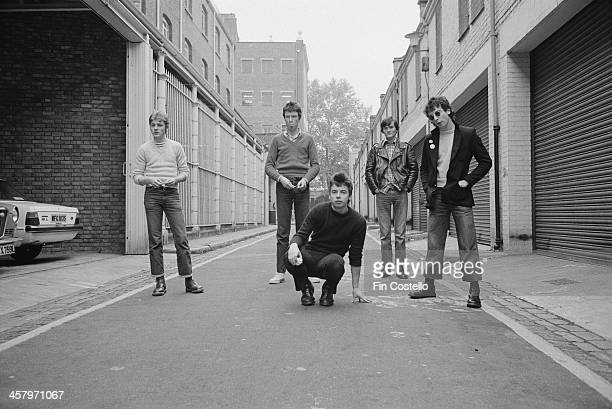 Northern Irish group The Undertones posed in Camden London in 1978 Left to right Billy Doherty Michael Bradley Damian O'Neill Feargal Sharkey and...
