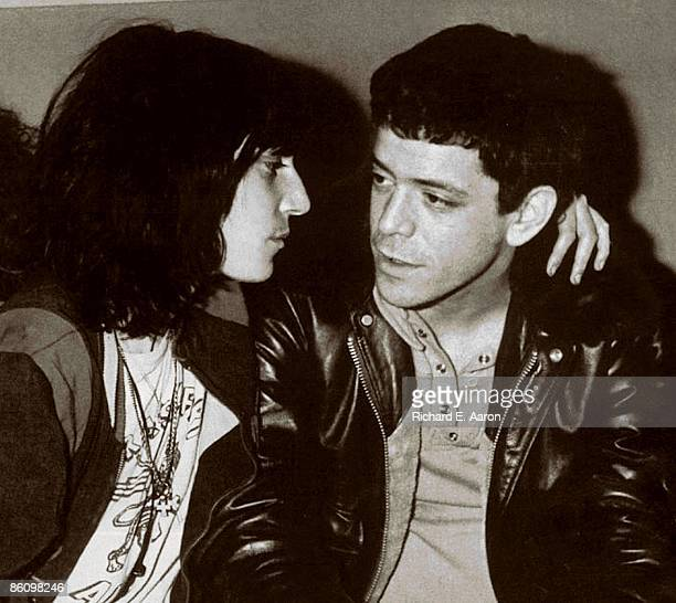 Patti Smith and Lou Reed pose together in New York in 1976