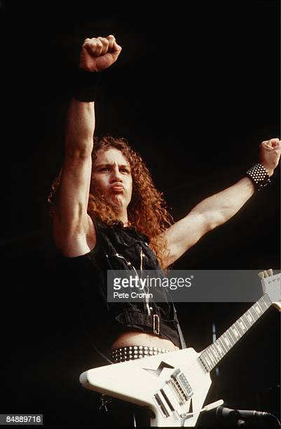 Photo of ANVIL and Steve KUDLOW Steve 'Lips' Kudlow performing on stage in 1983