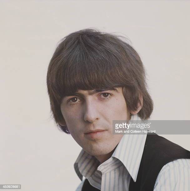 Posed studio session of George Harrison from The Beatles in 1965