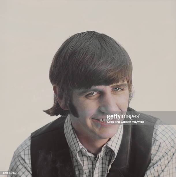 Posed studio session of Ringo Starr from The Beatles in 1965