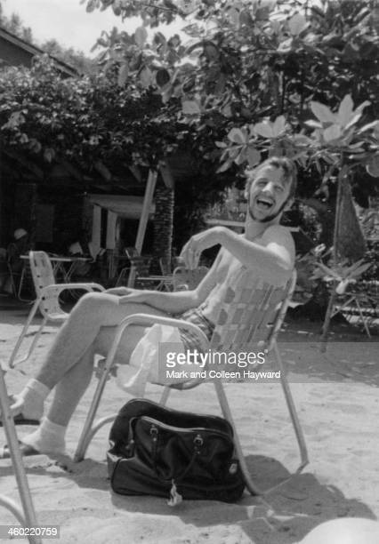 Ringo Starr from The Beatles posed on holiday in Port Of Spain Trinidad in January 1966