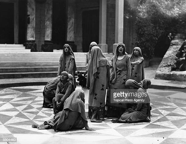 A performance of Euripides' 'Iphigenia In Tauris' in the Greek Theatre at Bradfield College Berkshire