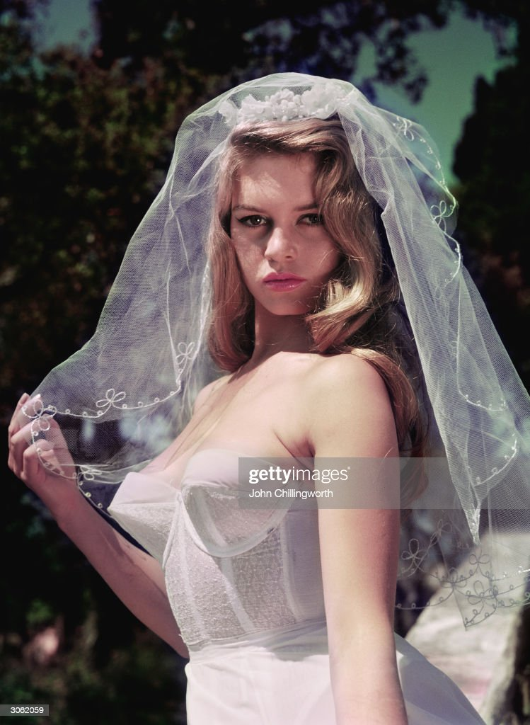 French actress Brigitte Bardot nicknamed the Sex Kitten wearing a wedding veil Original Publication Picture Post 8546 Brigitte Bardot unpub
