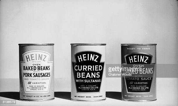 A selection of Heinz baked beans tinned in tomato sauce