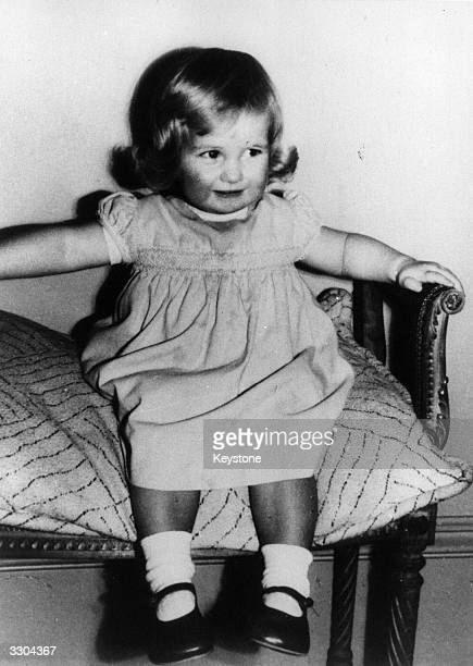 Lady Diana Frances Spencer later Princess of Wales aged 2 at Park House Sandringham Norfolk