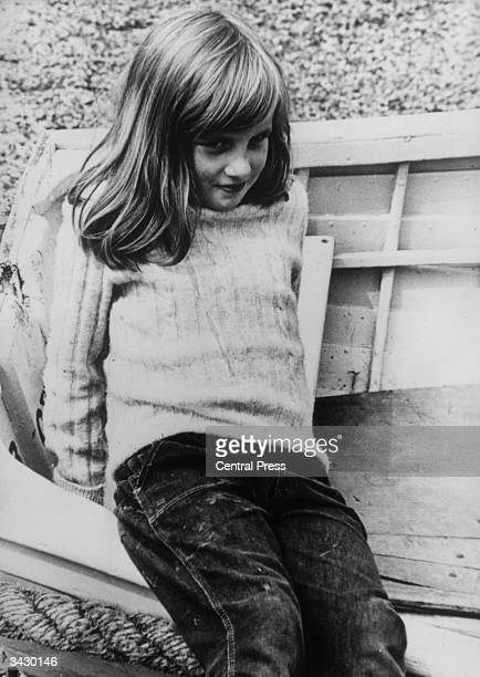 Lady Diana Spencer during a holiday at Itchenor in West Sussex