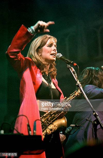 alto sax player Candy Dulfer performs live on stage at Paradiso in Amsterdam Netherlands on 1st July 1999