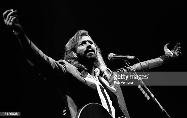Barry Gibb from The Bee Gees performs live on stage at Ahoy in Rotterdam Netherlands on 1st July 1991