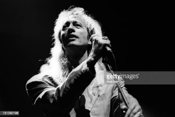 Robin Gibb from The Bee Gees performs live on stage at Ahoy in Rotterdam Netherlands on 1st July 1991
