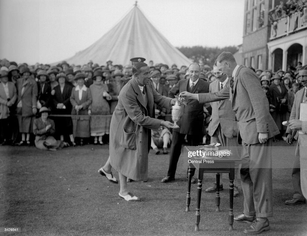 American winner of the Open Golf Championship Walter Hagen at Hoylake Merseyside