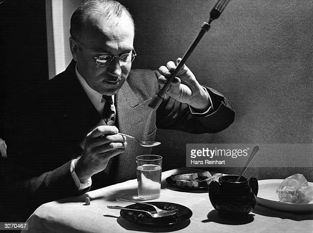 A device intended for indigestion at dinner parties The fork has a hollow handle containing bicarbonate of soda allowing the unfortunate guest to...