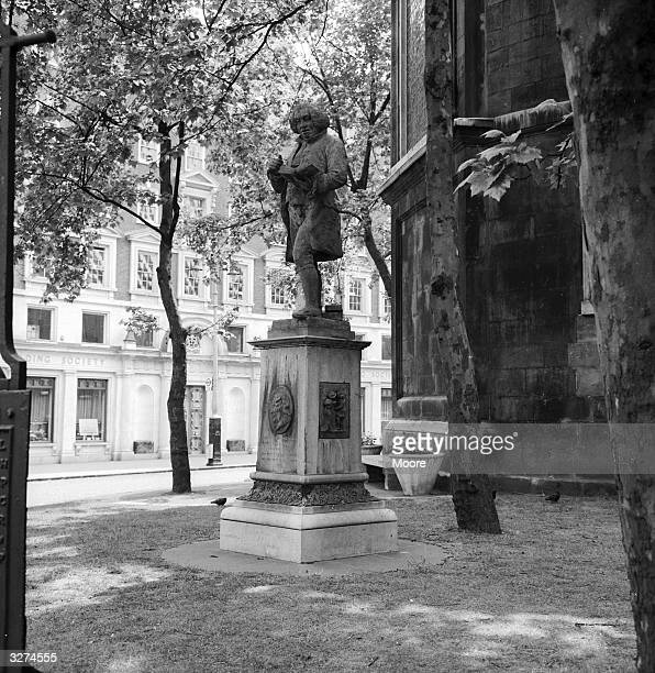 The statue of Doctor Samuel Johnson in the grounds of St Clement Danes Church in the Strand