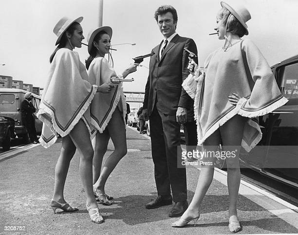American actor Clint Eastwood finds himself at the mercy of three guntoting gals upon his arrival at London Airport to promote his latest film From...