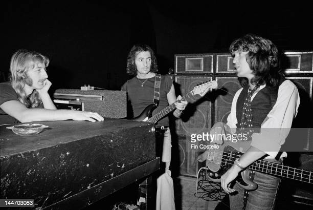 David Stone Ritchie Blackmore and Bob Daisley from rock band Rainbow rehearse at World Stage in Los Angeles in June 1977