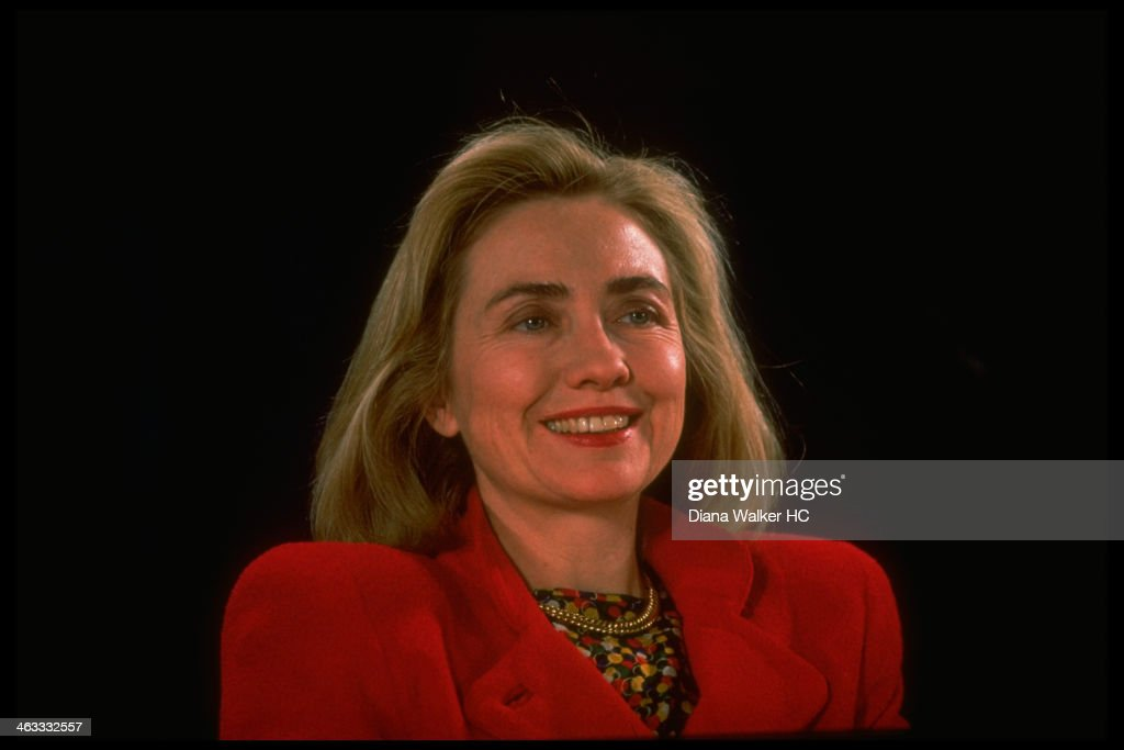1st Lady Hillary Rodham Clinton appearing at Conversation on Health heath care forum sponsored by Wood Johnson Foundation on March 12, 1993 in Tampa, FL.