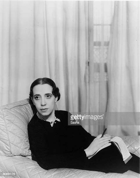 Italian dress designer Elsa Schiaparelli who also created a number of perfumes