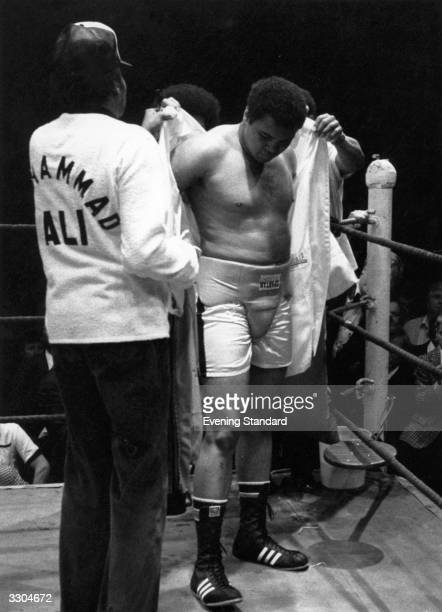 An overweight Muhammad Ali prepares for a fight