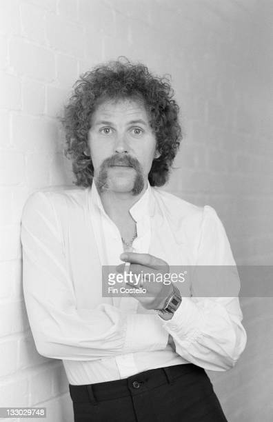 Bassist Kelly Groucutt from Electric Light Orchestra posed on the set of a video shoot to promote singles from the album 'Discovery' in May 1979
