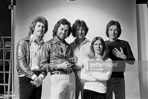English progressive rock group Renaissance posed in New York USA in May 1976 Left to right Jon Camp Michael Dunford John Tout Annie Haslam and Terry...