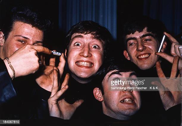 The Beatles posed in Hamburg Germany during their residency at The Star Club in May 1962 Left to right Pete Best John Lennon Paul McCartney and...