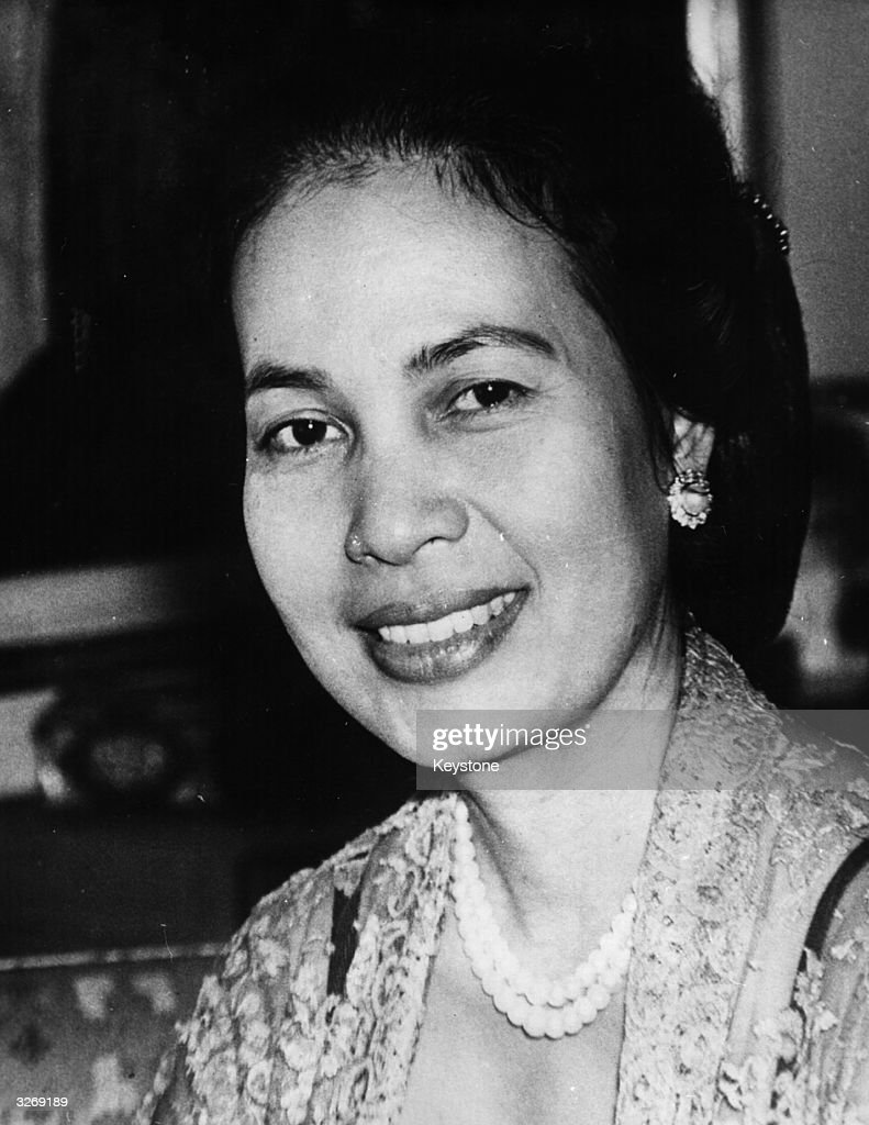 Mme Hartini Sukarno, second wife of President Sukarno of Indonesia.