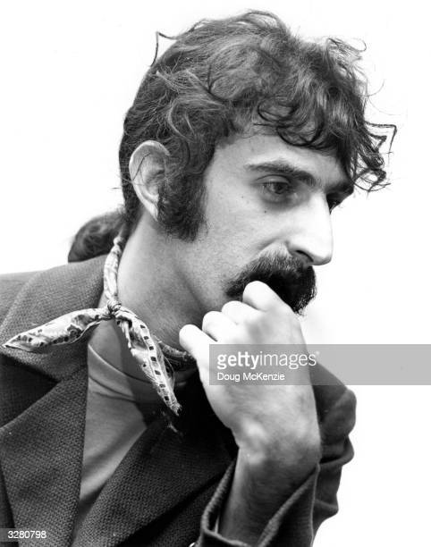 American experimental rock musician singer and composer Frank Zappa
