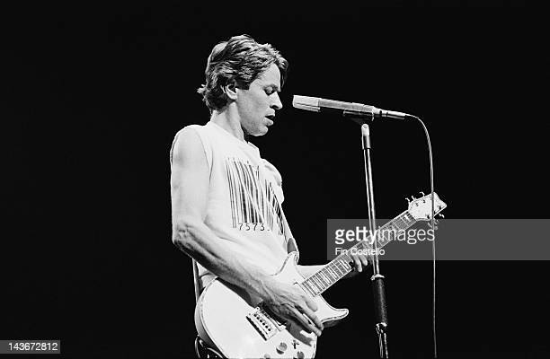 English singer and guitarist Robert Palmer performs live on stage at the Dominion Theatre in London in November 1980