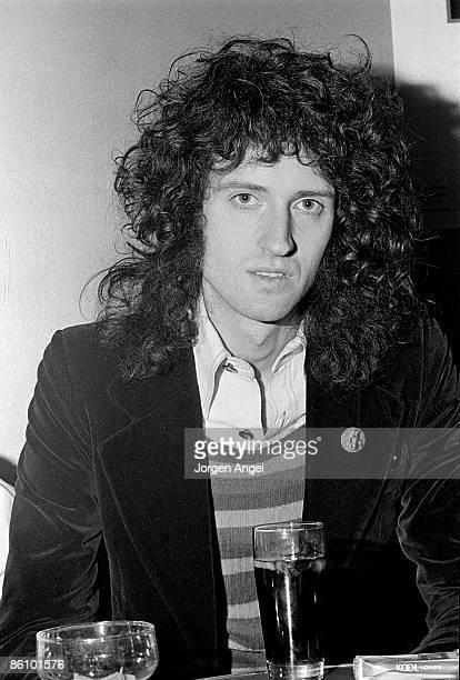 Guitarist Brian May from British rock group Queen posed in Copenhagen Denmark in November 1974