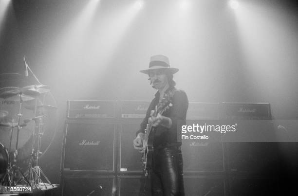 Micky Moody from Whitesnake performs live on stage at the Lyric Theatre in London during the filming of their video to 'Here I Go Again' in November...