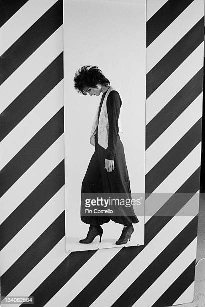 Siouxsie Sioux lead singer with British punk band Siouxsie And The Banshees posed in a studio in London in November 1979