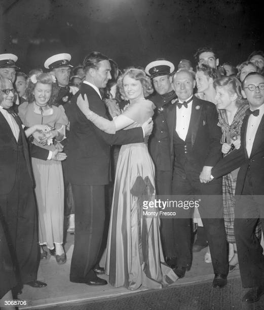 English cricketer Denis Compton dancing with the British actress Anna Neagle at the Empress Hall London As well as playing both cricket and football...