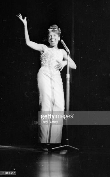 Welsh singer Shirley Bassey performing in 'Talk of the Town'
