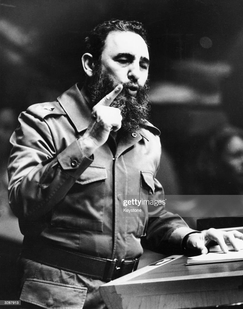 Cuban president Fidel Castro addressing the United Nations General Assembly in New York