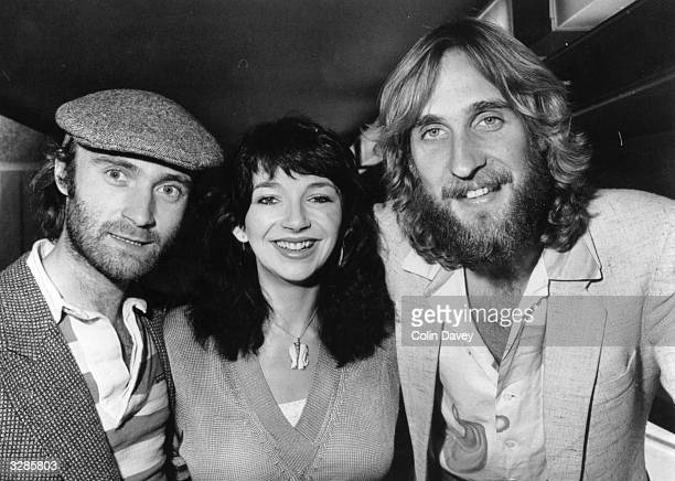 Melody Maker Pop Awards 1980 Best drummer Phil Collins of Genesis best female singer Kate Bush and best bass guitarist Mike Rutherford of Genesis