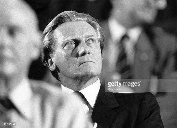 British politician Michael Heseltine attends the Conservative Conference in Blackpool