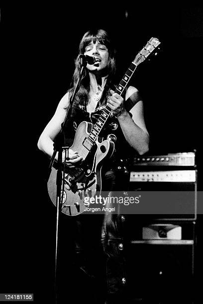 Andy Scott from English glam rock group The Sweet performs live on stage in Copenhagen Denmark in October 1974
