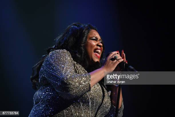 1st Place Winner Michelle BrooksThompson performs during Amateur Night At The Apollo Super Top Dog at The Apollo Theater on November 22 2017 in New...