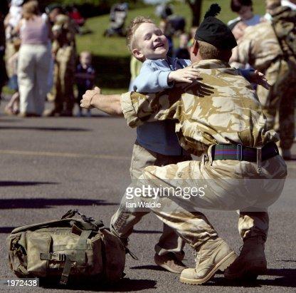 1st Royal Irish Regiment Return Home From The Gulf
