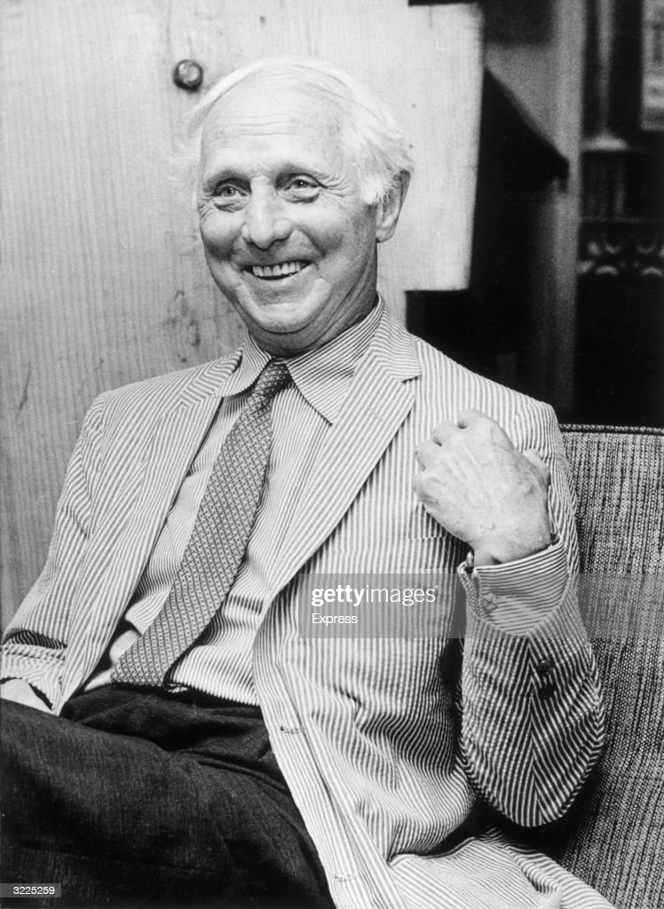 A candid portrait of German painter <a gi-track='captionPersonalityLinkClicked' href=/galleries/search?phrase=Max+Ernst&family=editorial&specificpeople=932116 ng-click='$event.stopPropagation()'>Max Ernst</a> (1891 - 1976) smiling and wearing a seersucker jacket.