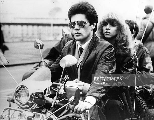 In a scene from the film 'Quadrophenia' Lesley Ash is driven along the esplanade by her mod boyfriend