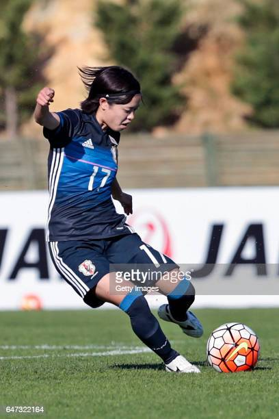 Yui Hasegawa of Japan Women during the match between Japan v Spain Women's Algarve Cup on March 1st 2017 in Parchal Portugal