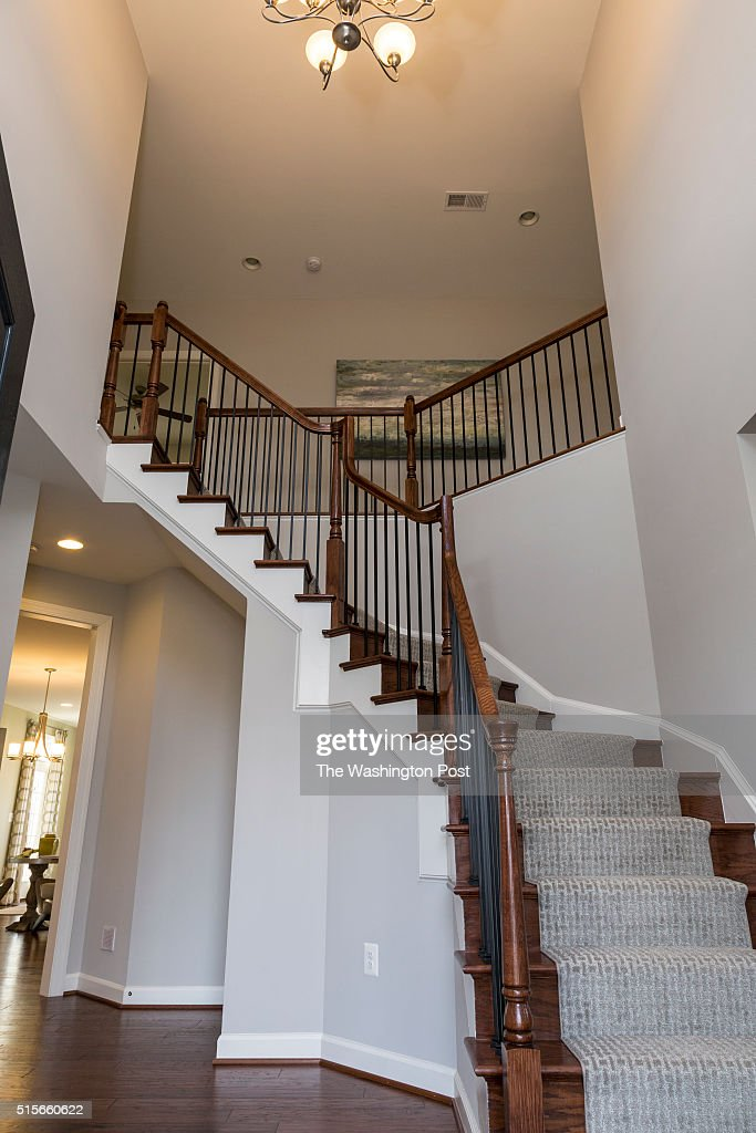 The Foyer in the Lynhurst Model at Hickory Falls on March 1 2016 in Woodbridge Virginia