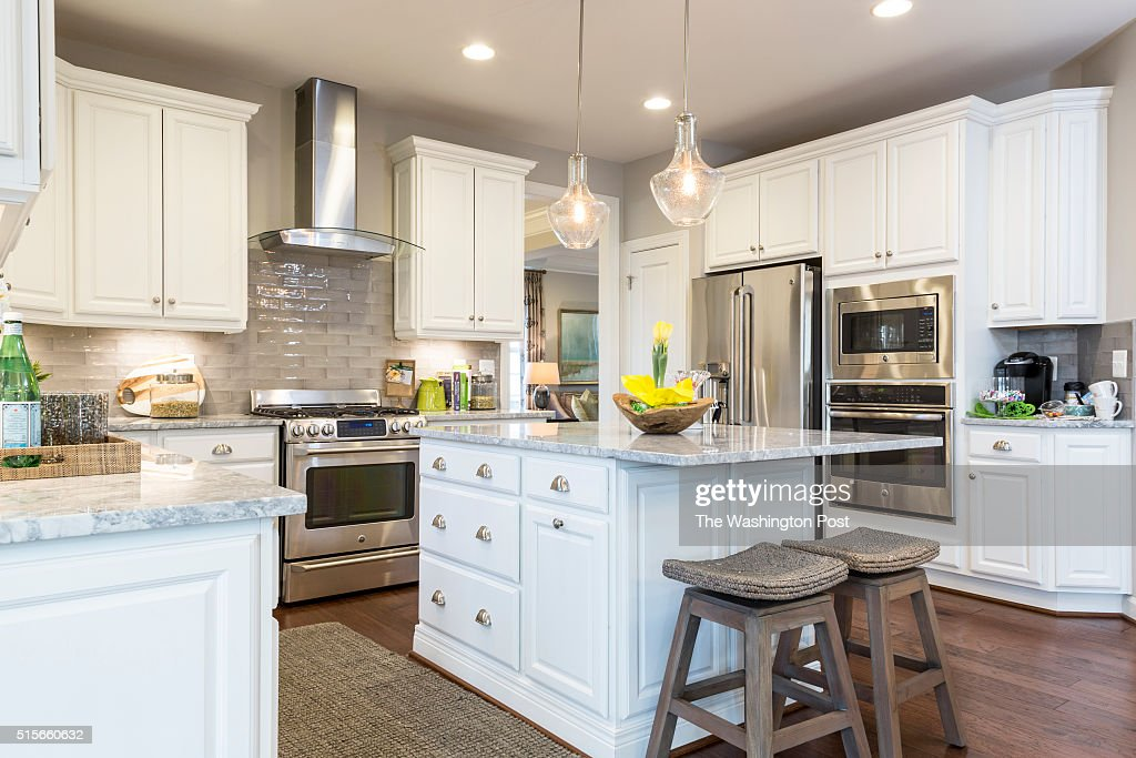 The Kitchen in the Lynhurst Model at Hickory Falls on March 1 2016 in Woodbridge Virginia