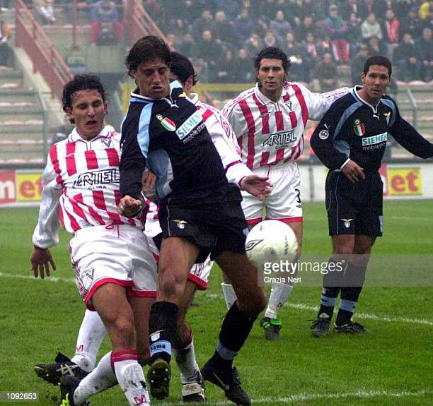 Hernan Crespo of Lazio in action during a SERIE A 10th Round League match between Vicenza and Lazio played at the Romeo Menti stadium Vicenza Corrado...